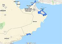 Karte Oman Salalah.Bedu Expeditionen Oman Routenvorschlage